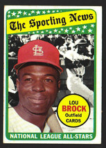 1969 Topps #428 Lou Brock All-Star Cardinals HOF Ex-Mt - $5.00