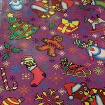 Vintage Lisa Frank Complete Sticker Sheet Christmas Holiday Theme S132 Early 90s image 2