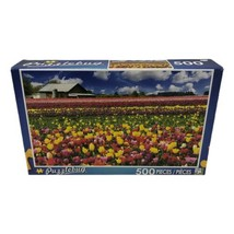 LPF Puzzlebug Tulip Farm Oregon 500 Piece Jigsaw Puzzle New Sealed - $14.99