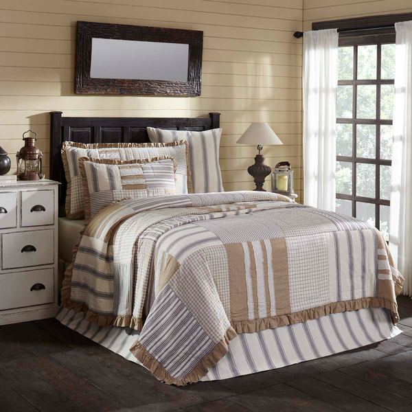 3-pc Grace Luxury California King Quilt Set - Quilted King Shams - Vhc Brands