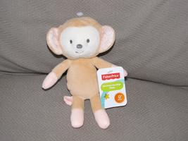Fisher Price Sweet Surroundings Stuffed Plush Monkey Peach Tan Crinkle Brown New - $31.67