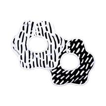 Tiny Twinkle Roundabout Bibs 2 Pack - Black and White Set, 360 Rotating ... - $14.00