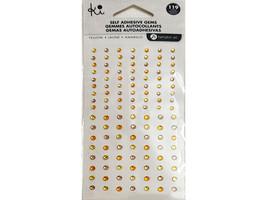 Ki Self-Adhesive Gems/Rhinestones, 119 Pieces, 3 Colors, 2 Sizes