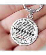 To My Grandson Necklace Gift from Grandma - Birthday Present from Grandm... - $31.63+