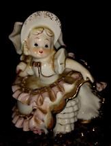 Vintage Geo. Z. Lefton Bloomer Girl with Parasol Figurine 1950's VHTF Ad... - $45.00