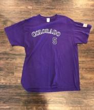 Colorado Rockies Carlos Gonzalez MLB Purple Jersey Shirt SIZE X-LARGE (XL) - $19.79