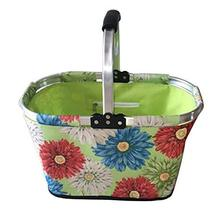 24station [A] Collapsible Picnic Basket Foldable Shopping Basket Market ... - $48.30