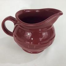 LONGABERGER Woven Traditions Pitcher Paprika Creamer Pottery Red USA - $28.45