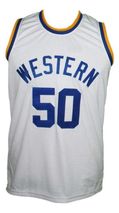 Neon boudeaux  50 western blue chips movie basketball jersey white   1