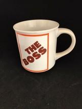 The Boss Coffee Mug 1984 Enesco Gift Vintage - $11.99