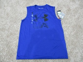 BNWT Under Armour youth boys activewear tank top, size L, blue - $11.88