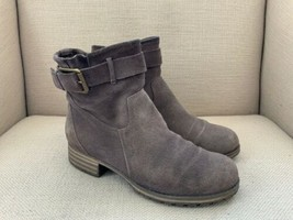 Clarks Taupe Suede Ankle Boots Booties US Womens 7 - $18.69