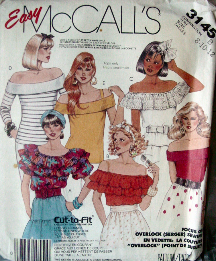 Primary image for Pattern 3145 Young Miss Summer Tops sz 8,10,12