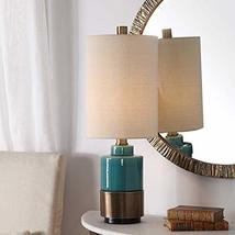 Uttermost Rema Bright Turquoise Glaze Ceramic Table Lamp - $237.60