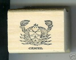 Cancer Zodiac Sign Rubber Stamp 1960's June 21-July 22 Crab - $13.85