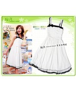 White Chiffon Ruffled  Dress with Crochet lace  - $5.00