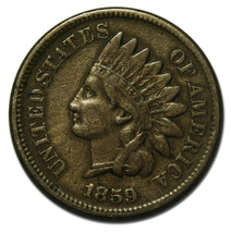 1859 Indian Head Penny / Cent Coin Lot# A 1740