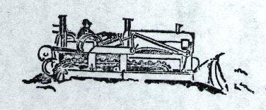 Primary image for Cat Dozer #2  Rubber Stamp made in america free shipping catapillar bulldozer