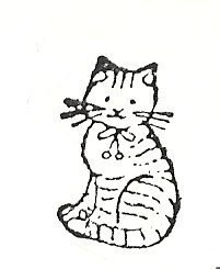 Primary image for Cat small  Rubber Stamp  made in america free shipping