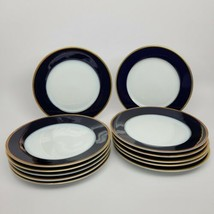 Rosenthal Cobalt/Gold Classic Rose Salad Plates (12) similar Claudine - $275.83