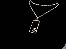 Art deco necklace - Letter T pendant - Monogrammed jewelry - sterling ch... - $145.00