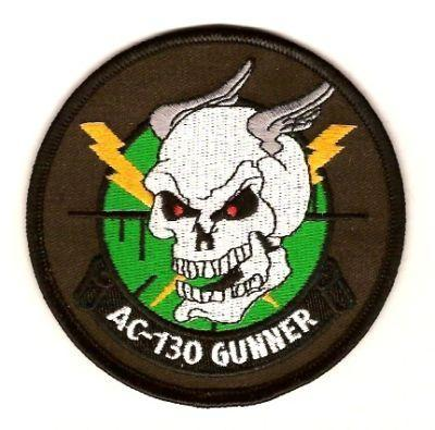 Primary image for USAF AC-130 Gunship Gunner Military Insignia Patch