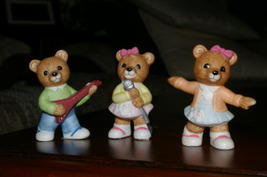 Homco Sock Hop Bears 1421 50's Style Home Interiors - $9.99