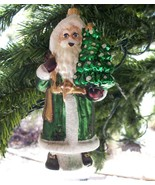 Possible Dreams Celtic Christmas (Santa) Glass Ornament, New w/Tags - $13.00