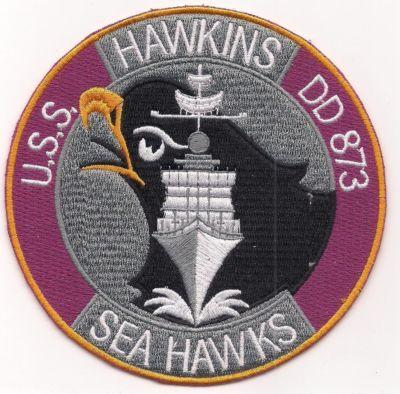 Primary image for US Navy DD-873 USS Hawkins Sea Hawks Patch