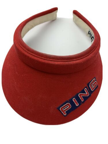 Primary image for Ping Golf Red Made in USA Adjustable Adult Visor Cap Hat