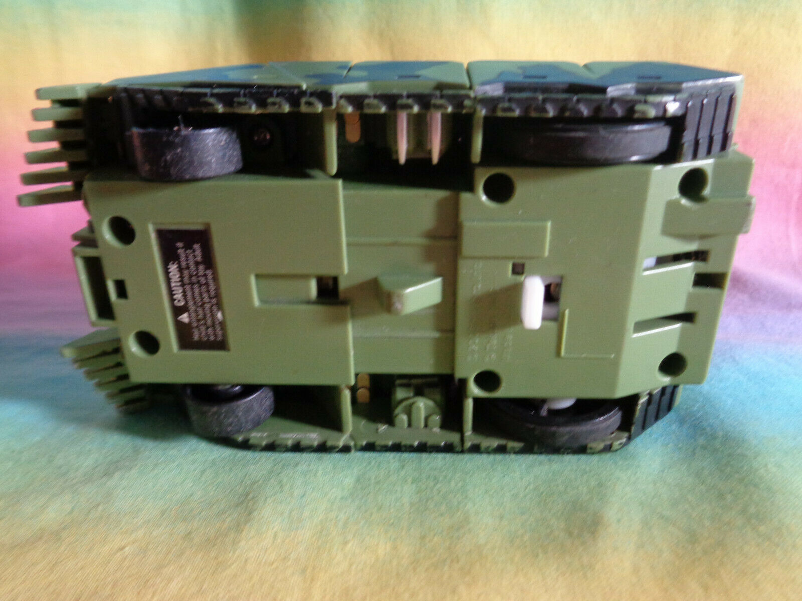 Transformers 2008 Hasbro Green Army Tank Replacement Parts - as is image 5