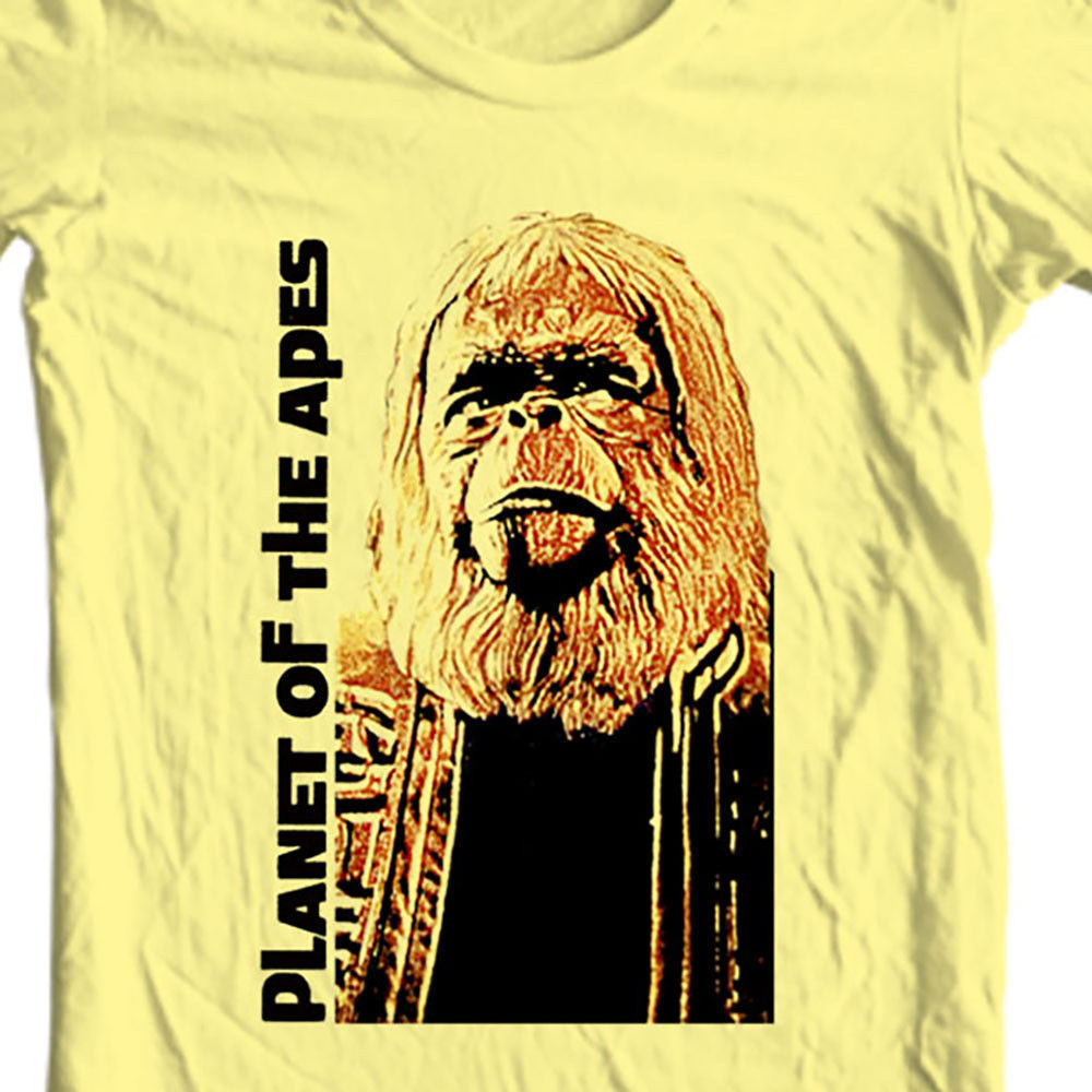 Iginal 1960s pota graphic tee charleton heston retro vintage sci fi funny tee shirt online store