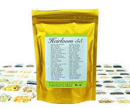Heirloom Seed Bank with 55 Varieties of Vegetable seeds by Heirloom Futu... - $49.29