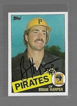 1985 Topps Brian Harper Autographed Baseball Card - $29.70