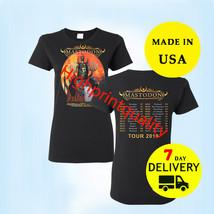 Mastodon Shirt Tour 2019 T-Shirt Women Black Gildan Size M-3XL Tee - $24.99+
