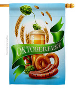 It Oktoberfest House Flag 28 X 40 Double-Sided Beer Banner - $36.97