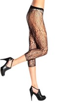 Olivas Garden of Flowers Fashion Designed Footless Fishnet Pantyhose - F... - €8,82 EUR