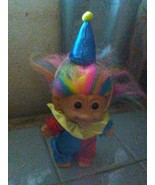 "Bright of America Clown Troll Doll-4 1/2"" Troll Doll W/ Rainbow Hair-Clo... - $7.66"