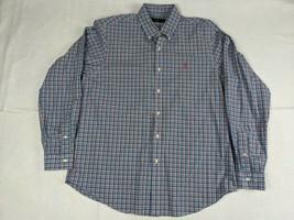 Ralph Lauren Mens Long Sleeve Button Shirt Cotton Size L Blue Pink Green - $19.68