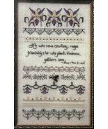 "Counted Cross Stitch Pattern ""Columbine Candlelight"" Sampler - $6.00"