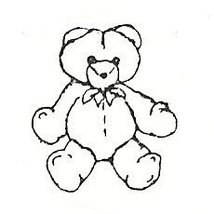 Cute Teddy Bear  Rubber Stamp  made in america free shipping  - $9.99