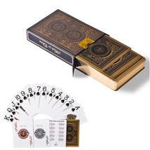 Gold Playing Cards Poker Edge Baccarat Texas Holdem Board Game Gift Plas... - $14.45
