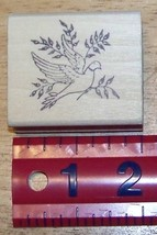 Dove with Olive branchs peace Rubber Stamp - $9.00
