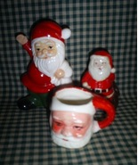 Three Vintage Santa Collection - $6.00