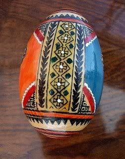 Easter Egg Pysanka Ukrainian Russian Handpainted Wooden Larg