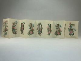 Vtg Hallmark Gold Illuminated Parchment 9 Panel Foldout Card GRADUATE Fl... - $24.74
