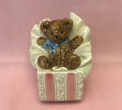 Vintage Otagiri Japan music box Let Me Be Your Teddy Bear wind-up cerami... - $5.00