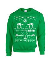 Star Wars Ugly Sweater Design Funny Christmas Unisex Crew Sweatshirt 1039 - $19.75+