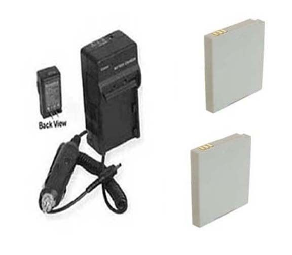 2 Batteries SB-LH73 CS-SBLH73 + Charger for Samsung SDC-MS61 SDC-MS61B SDC-MS61S