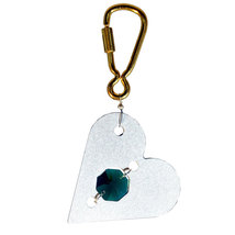 Aluminum and Crystal Heart Keyring image 6